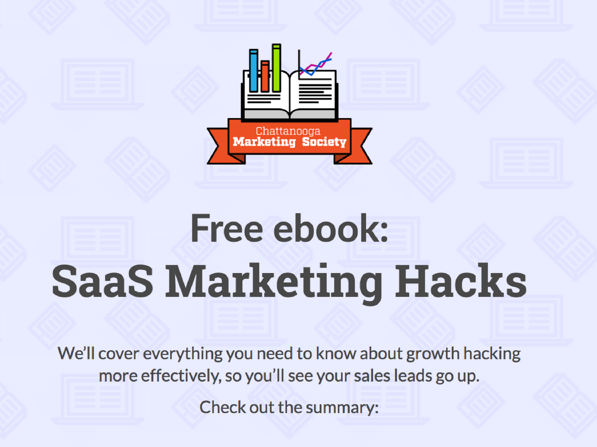 saas marketing hacks template